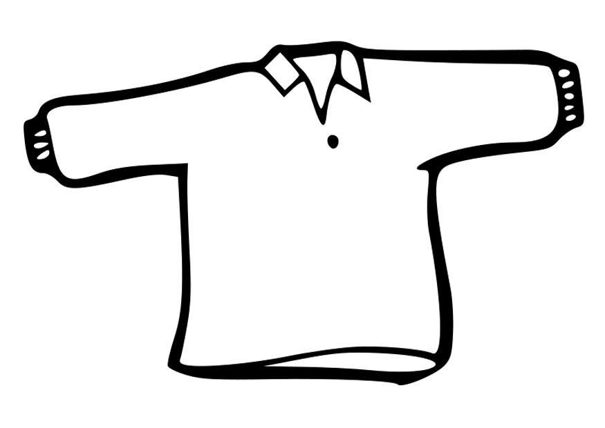 Kleurplaat trui. Gratis kleurplaten om te printen.