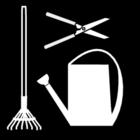 Kleurplaat tuin-onderhoud
