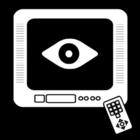 Kleurplaat tv kijken