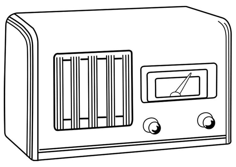 kleurplaat uitgeschakelde radio gratis kleurplaten om te
