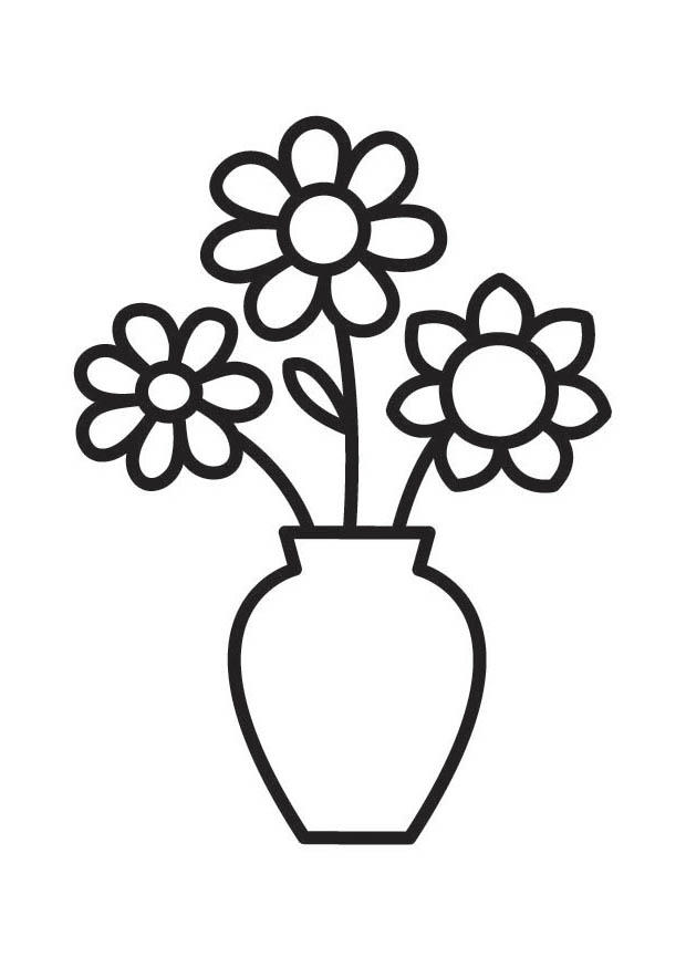 v is for vase coloring pages - photo #15