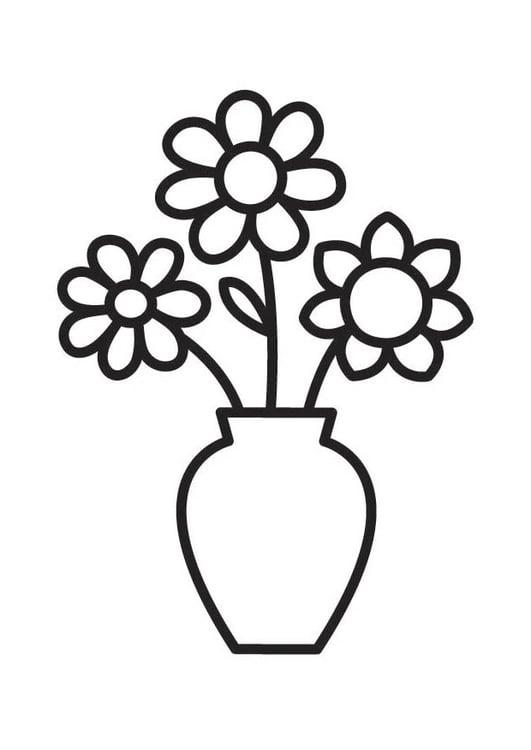 Kleurplaten Bloemen Peuters.Kleurplaat Bloemetje