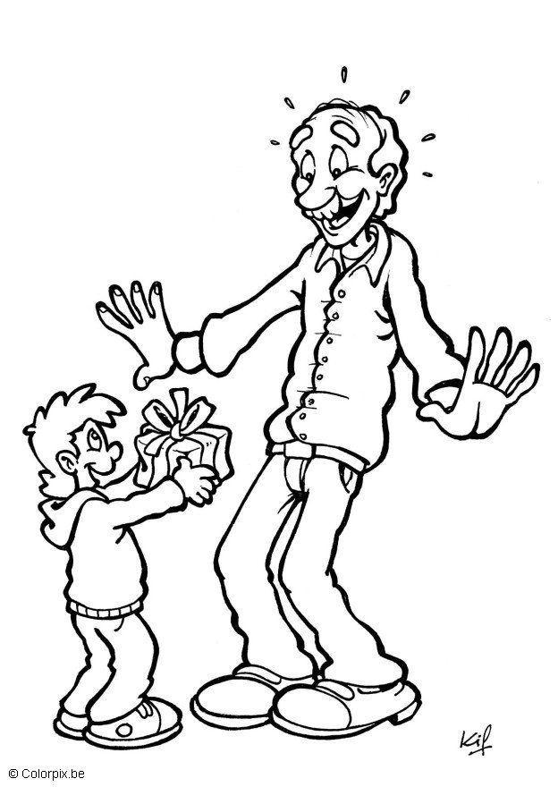 Kleurplaat Vader En Kind Afb 7147