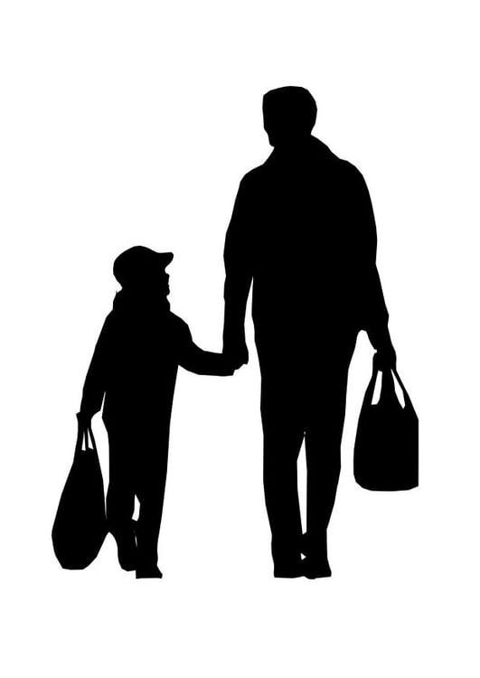 Kleurplaat Vader Met Kind Afb 26167