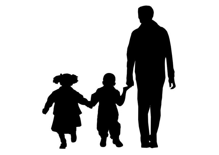 Kleurplaat Vader Met Zoon En Dochter Afb 26158