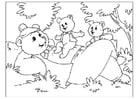 Kleurplaat vaderdag - beren