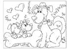 Kleurplaat vaderdag - honden
