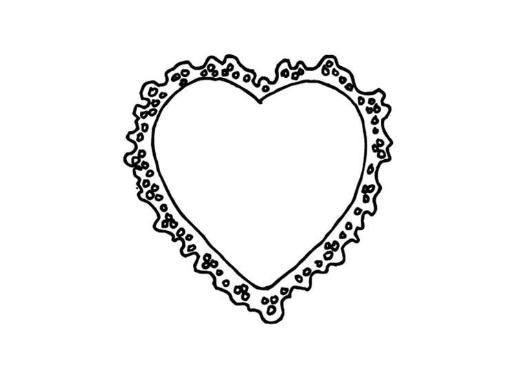 Kleurplaat Valentijn Hartje Archidev