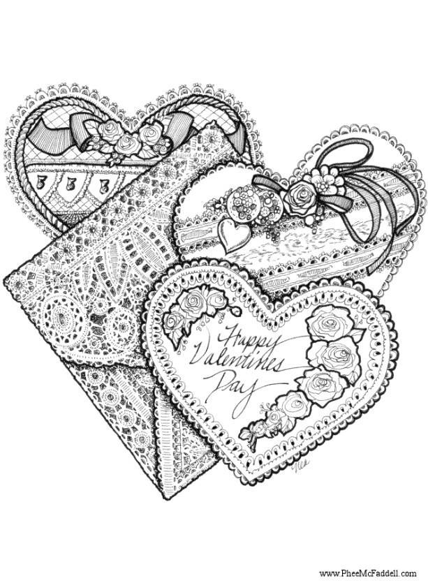 Kleurplaten Valentijn Hartjes.Kleurplaat Valentijn Hartjes Afb 6899 Images