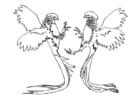 Kleurplaat vechtende fazanten