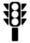 Kleurplaat verkeerslicht