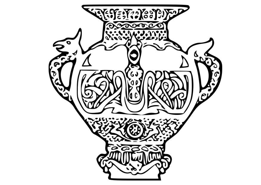 kleurplaat viking vaas gratis kleurplaten om te printen