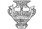 Kleurplaat Viking vaas