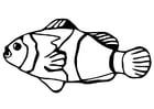Kleurplaat vis - goudvis