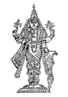 Kleurplaat Vishnu