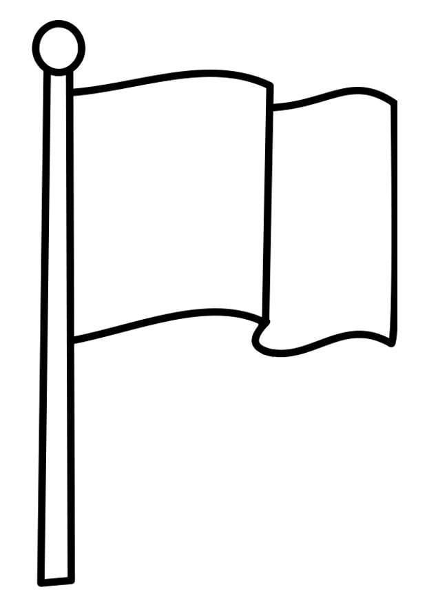 Kleurplaat vlag - Afb 22478.