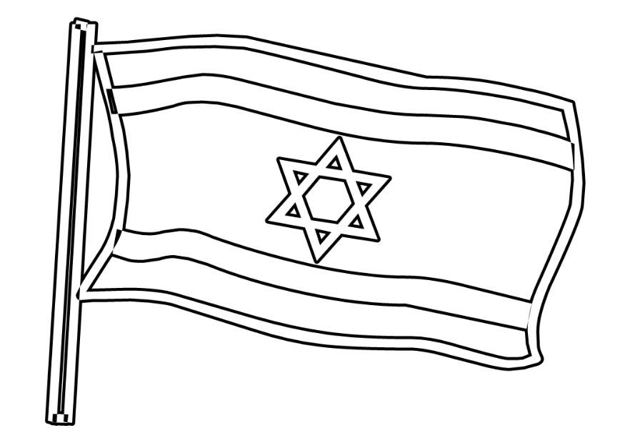kleurplaat vlag isra 235 l gratis kleurplaten om te printen