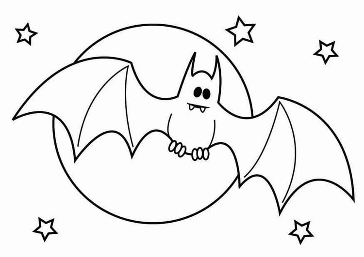 Kleurplaten Halloween Vleermuizen.Kleurplaat Vleermuis Halloween Afb 26436