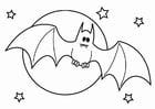 Kleurplaat vleermuis Halloween