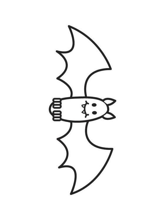 kleurplaat vleermuis afb 17640