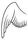 Kleurplaat vleugel links