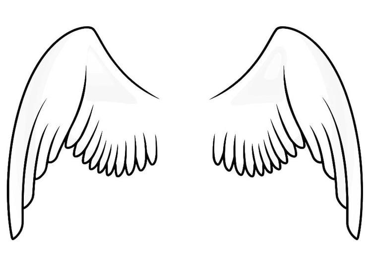 Kleurplaat Vleugels Afb 20666