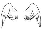 Kleurplaat vleugels