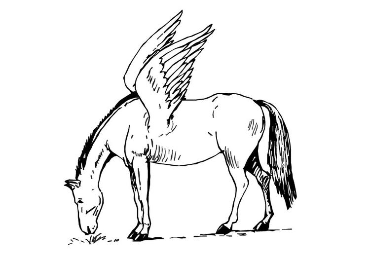 kleurplaten vliegende paarden