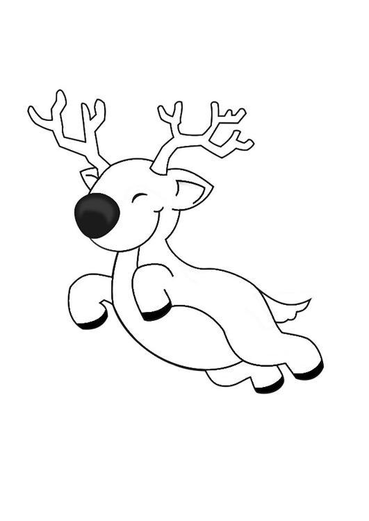 Kerst Kleurplaten Sneeuwpop Kleurplaat Vliegend Rendier Afb 29152