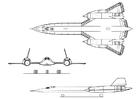 Kleurplaat vliegtuig - Lockheed SR-71A
