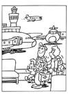 Kleurplaat vliegveld