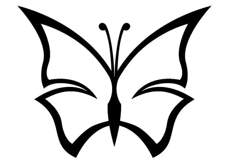 Kleurplaat Vlinder Afb 20673
