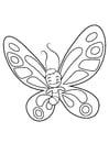 Kleurplaat vlinder heeft gegeten
