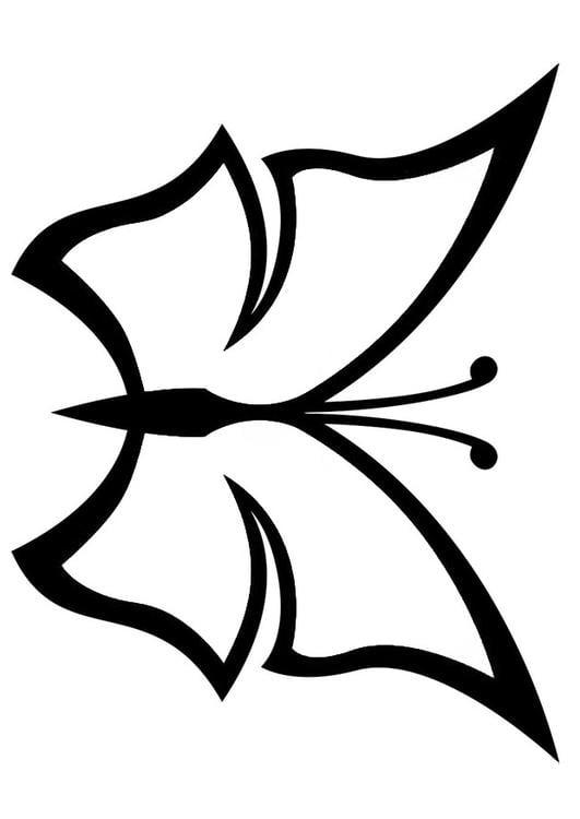 Kleurplaten Dieren Vlinders Kleurplaat Vlinder Afb 20673