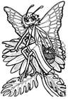 Kleurplaat vlinderprinses