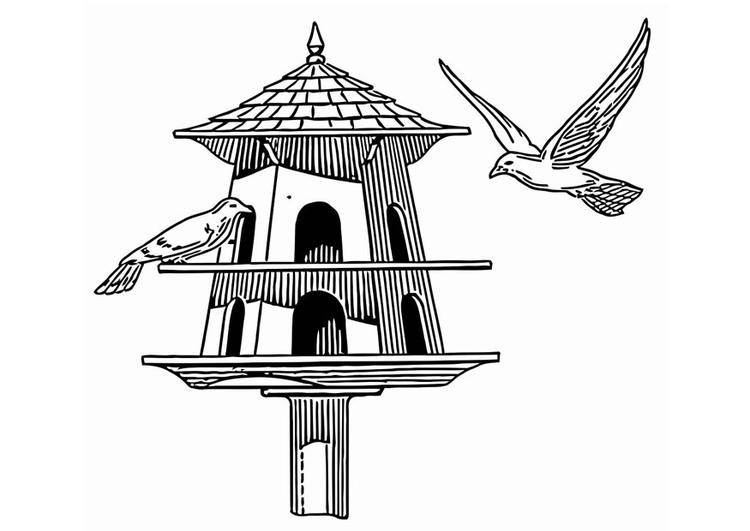 Kleurplaat Voederbak Voor Vogels Afb 20683