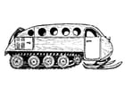 Kleurplaat voertuig voor sneeuwlandschap