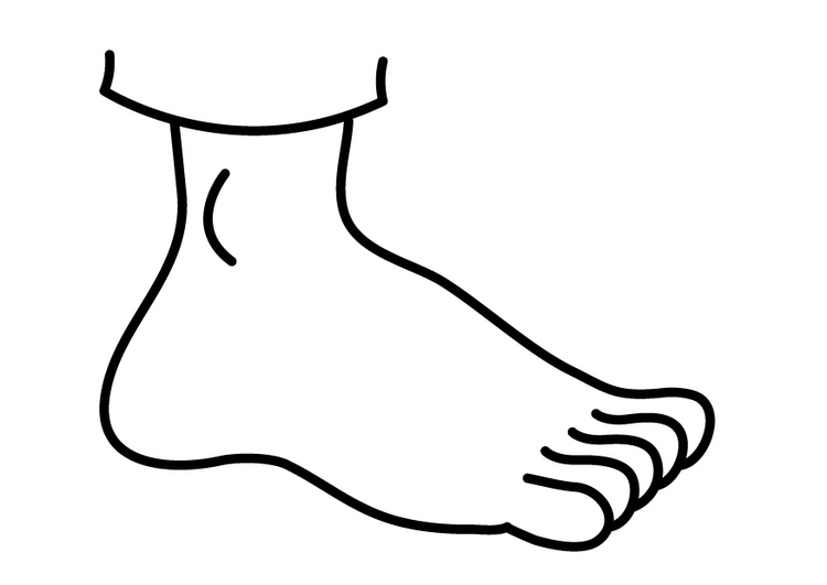 kleurplaat voet gratis kleurplaten om te printen