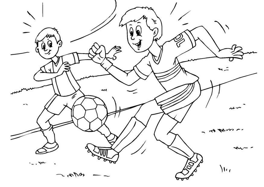 Раскраска футбол онлайн