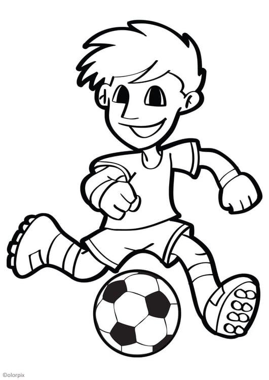 kleurplaat voetbal - afb 26040.