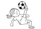 Kleurplaat voetballen