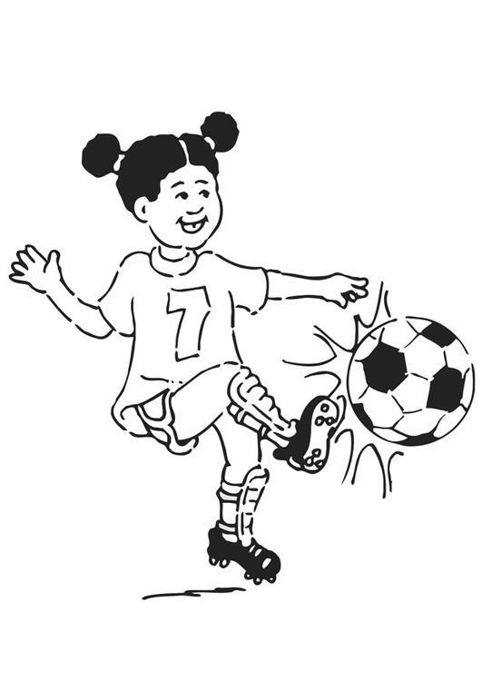 Kleurplaat Voetballen Afb 20941