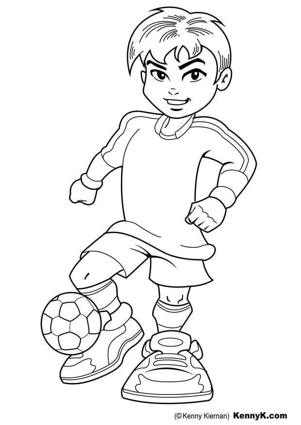 kleurplaat voetballer gratis kleurplaten om te printen