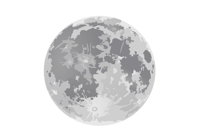 Kleurplaat Volle Maan Afb 10188