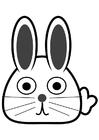 Kleurplaat voorkant konijn