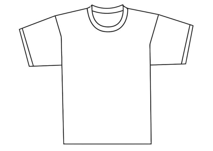 kleurplaat voorkant t shirt afb 19345