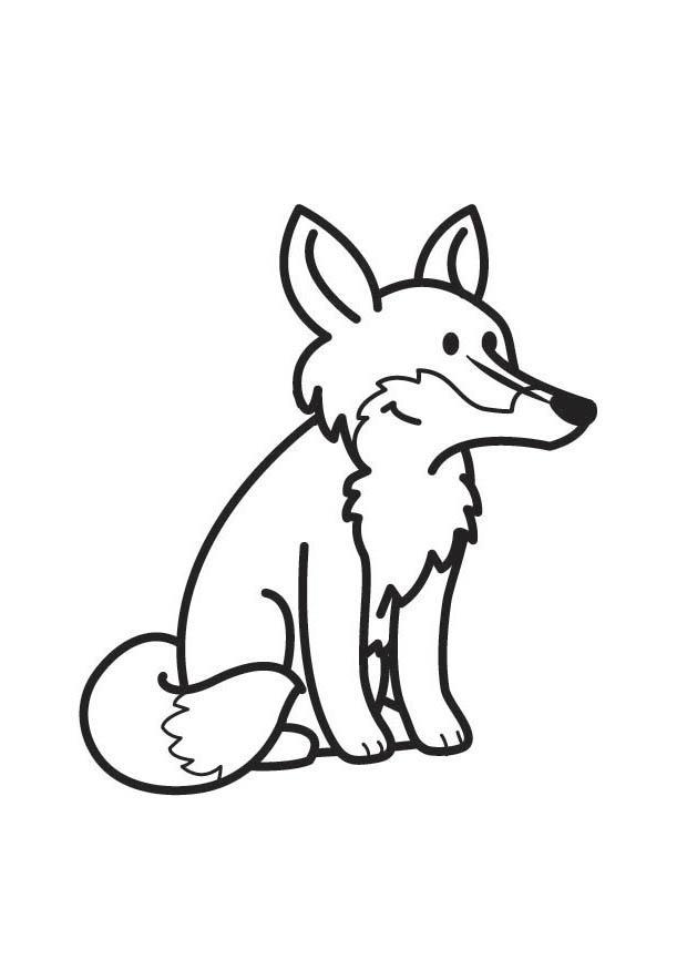 kleurplaat vos gratis kleurplaten om te printen