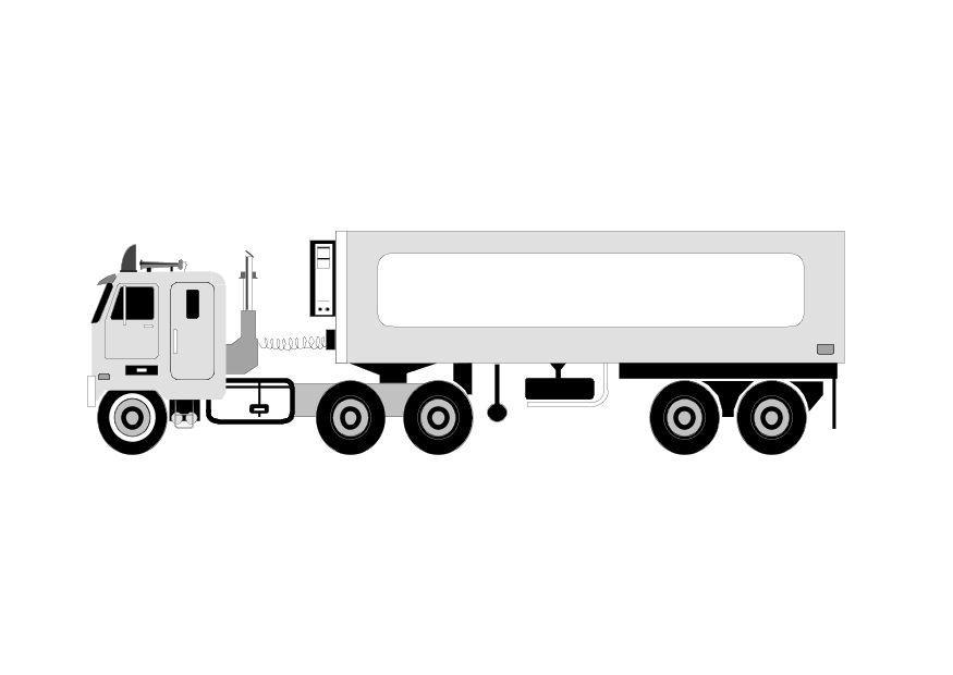 Kleurplaat Vrachtwagen Afb 10103