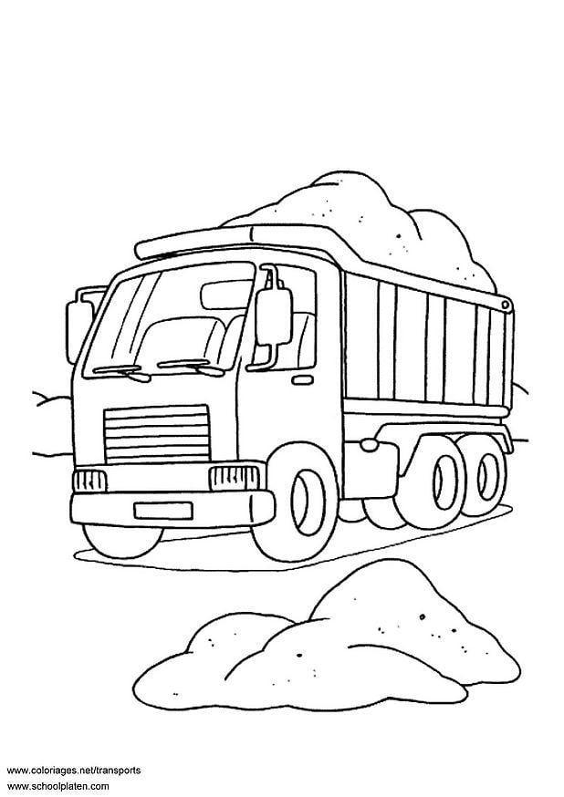 Kleurplaat Vrachtwagen Afb 3099