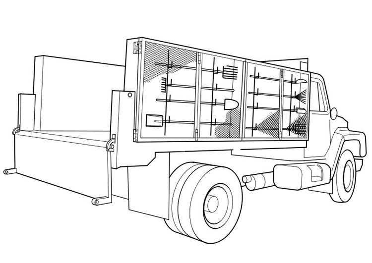 Kleurplaat Vrachtwagen Afb 19113